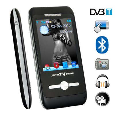 3 Inch Touch Screen DVB-T Multimedia Cellphone with Bluetooth