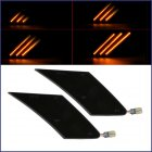 Dark Smoked Len Amber Led Panel Bumper Dynamic Flowing Side  Marker  Light For 2013-2020 86 Brz Smoky black