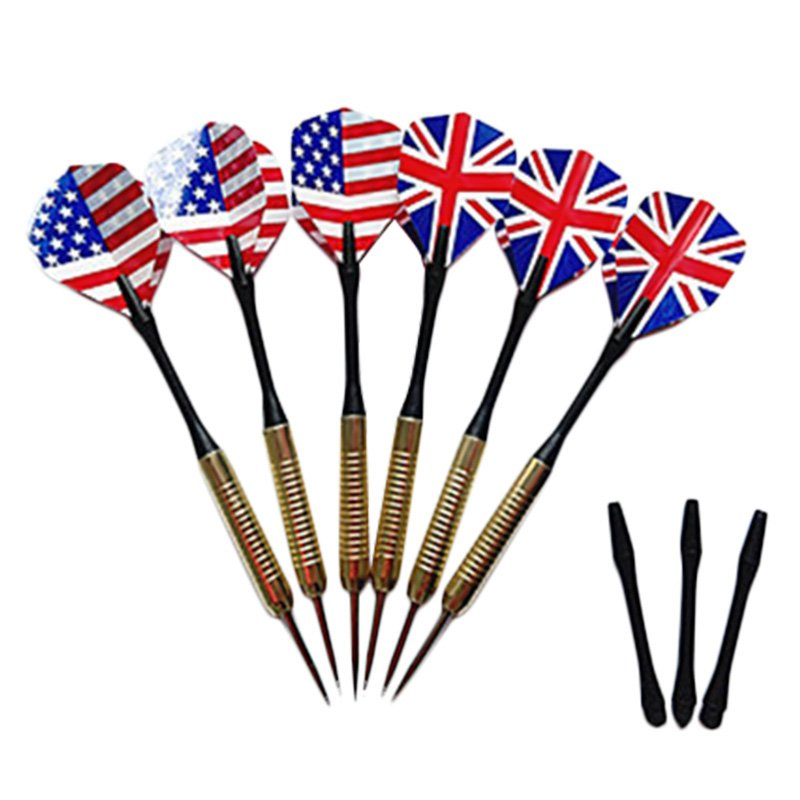 Darts Accessories 150mm Dart Copper Plating Needle with National Flag Flights