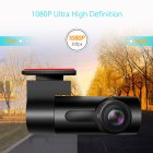 Dash Cam Car DVR Camera Recorder Dash Camera Recorder Car Radio USB Support TF Card Motion Detection black