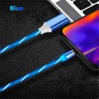 Data Line LED Magnetic Micro USB Cable Android Type C IOS Fast Charging Cable for Mobile Phone blue Ios interface