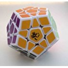 White 12-axis 3-rank Dodecahedron Magic Cube