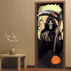Death Coming Halloween 3d Door Sticker Decor for Wood Door Home Wall  77 200cm one piece
