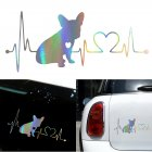 Decal French Bulldog Heartbeat 3D Vinyl Car Window Bumper Sticker  Photo Color
