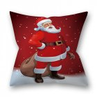 Decorative Polyester Peach Skin Christmas Series Printing Throw Pillow Cover 1#_45*45cm