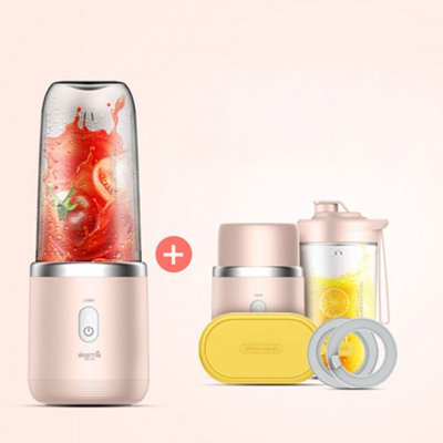 Deerma Portable Electric Blender 400ml 140W USB Charging Juicer Mini Juice Mixer Cup Juice Cup Deluxe Edition