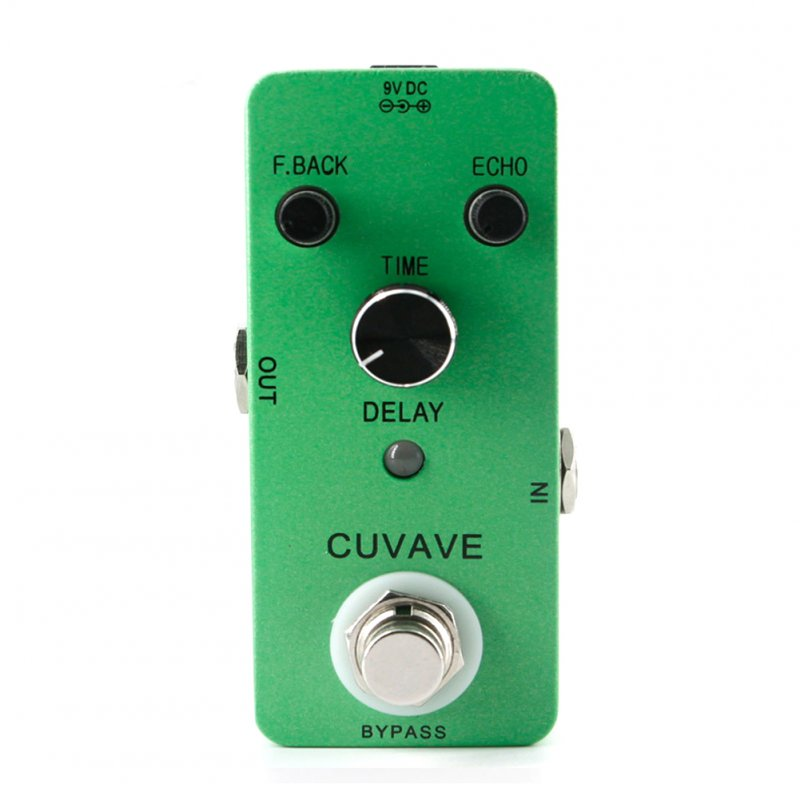 Delay Analog Classic Delay Echo Guitar Effect Pedal Zinc Alloy Shell True Bypass Guitar Stompbox green