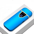 Delicate Ultra Thin USB Rechargable Lighter Flameless Lighter Blue ice color