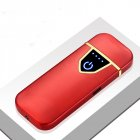 Delicate Ultra Thin USB Rechargable Lighter Flameless Lighter Red brushed
