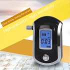 Digital Alcohol Breath Tester LCD Breathalyzer Analyzer Detector Black without Battery black