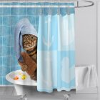 Digital Cat Printing Shower  Curtain For Bathroom Decor For Women Men Kids Girls Bathing cat_150*180cm