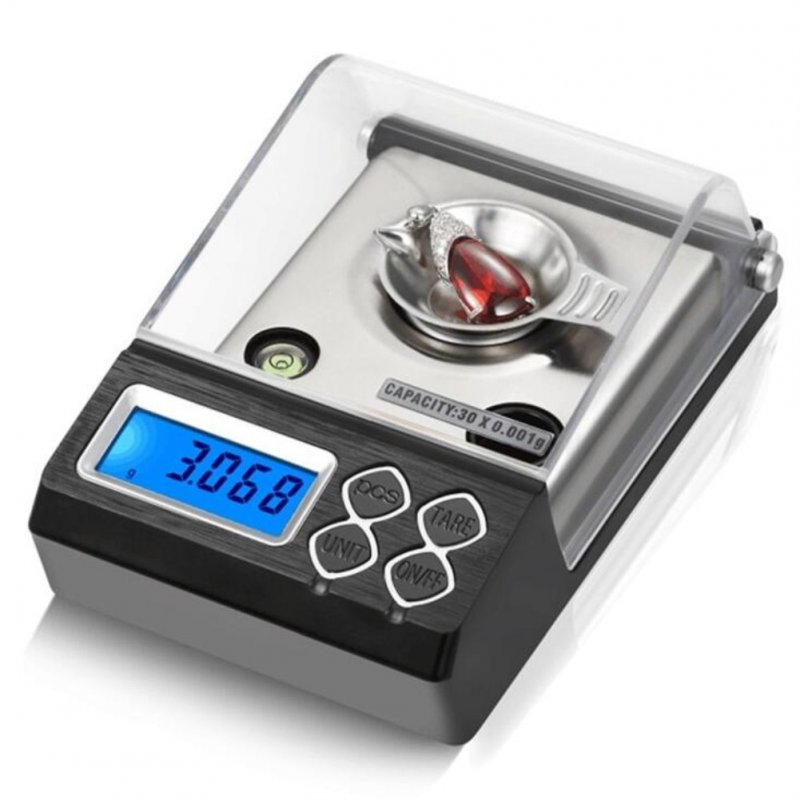 Digital Counting Carat Scale 20g 30g 50g 0.001g Precision Portable Electronic Jewelry Scales Medicinal Balance 50g / 0.001g