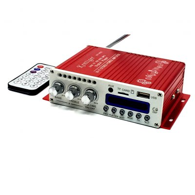 Digital Mini Bluetooth HiFi Stereo Amplifier Audio AMP for Car Home MP3  Player - Red