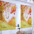 Digital Pattern Printed Curtain Sunshine Block Window Drape Living Bedroom Decoration 1 * 1.3m height hook