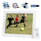 Digital Photo Frame with picture  music and video playback   The 12 inch multimedia display featuring a silky smooth slideshow function along with a static  fix