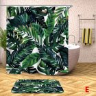Digital Printing Leaf Pattern Shower Curtains Washable Colorful Curtains for Bathroom Shower Yl0613 180X180
