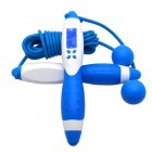 Digital Skipping Rope Professional Gym Fitness Equipment Burning Calorie White blue