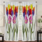 Digital Tulip Printing Blackout Curtain For Living Room Bedroom Drapes 137*215cm (single piece)