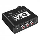 Digital to Analog Audio Converter with USB Cable Toslink Optical to Analog L/R RCA Audio black