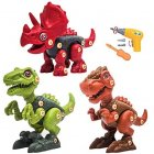 Dinosaur Building  Take Apart  Toy With  Electric Drill Screwdriver T-rex  Tyrannosaurus Triceratops Raptor  Dinosaur Toys Gift For  Boys  Grils as shown