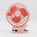 Disassemble USB Charging Mini Tabletop Clip Fan with Light  Pink 160 113 193MM