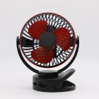 Disassemble USB Charging Mini Tabletop Clip Fan with Light  black_160*113*193MM
