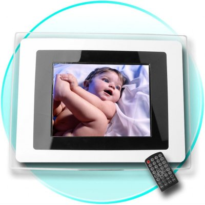 8 Inch Digital Photo Frame - Speaker + 3 Card Reader