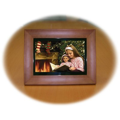 Digital Photo Frame(wood), 10.2-inch LCD, Built-in 512MB Flash