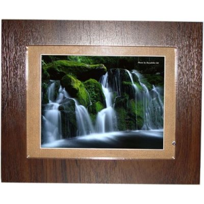 8-inch Digital Photo Wood Frame with Speaker 6-in-1 Card Reader