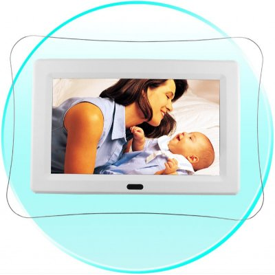 High Resolution Digital Photo Frame - AVI MP3 WMA Player