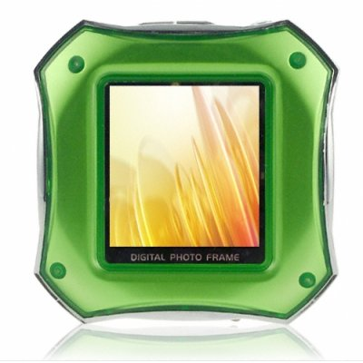 MP3 Player + 1.5 Inch Green Digital Photo Frame - TF Card Port