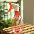 Disinfectant Spray Pot Watering Bottle Hand Trigger Transparent Kettle for Garden Flower Plant  red