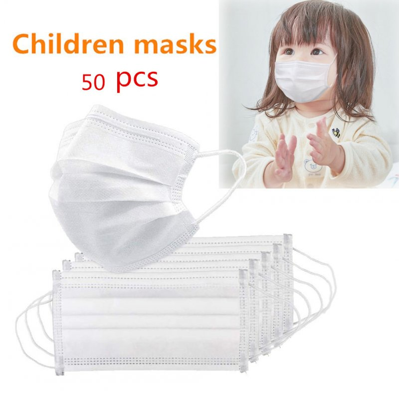 Disposable Mask 3 Layers Baby Student Non-woven Protective Mask 50pcs