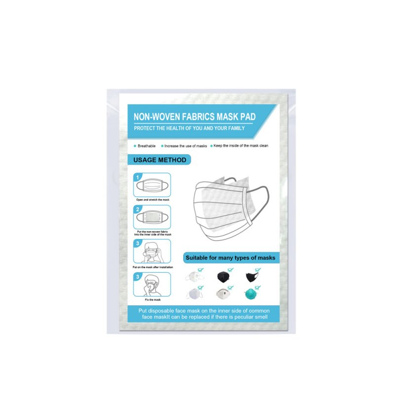 Disposable Non-woven Breathable Mask Replacement Filter Cotton Mat 50pcs