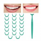 Disposable T Shape Teeth Stick Toothpicks Dental Floss Handle Oral Cleaning Flosser Tools green