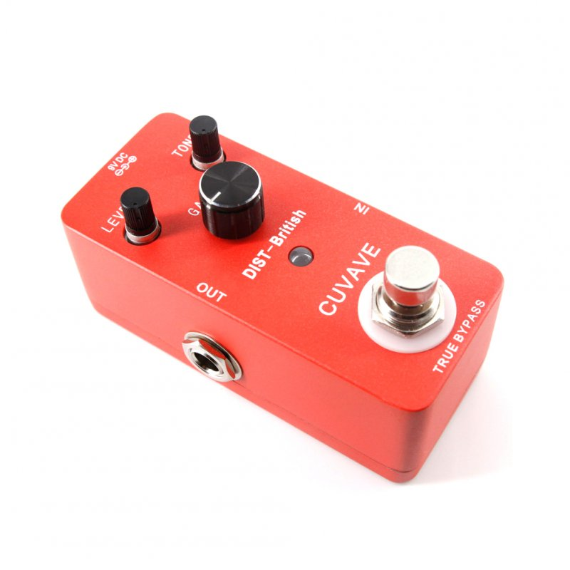 Distortion-British Guitar Effect Pedal Electric Guitar Stompbox red