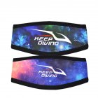 Diving Hairband Double sided Printing Anti wrapped Hair Protection Cover Diving Equipment Camouflage starry sky
