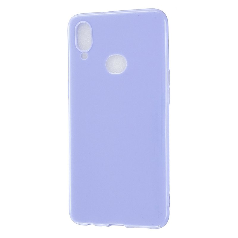 For Samsung A10S/A20S Cellphone Cover Soft TPU Phone Case Simple Profile Full Body Protection Anti-scratch Shell Taro purple
