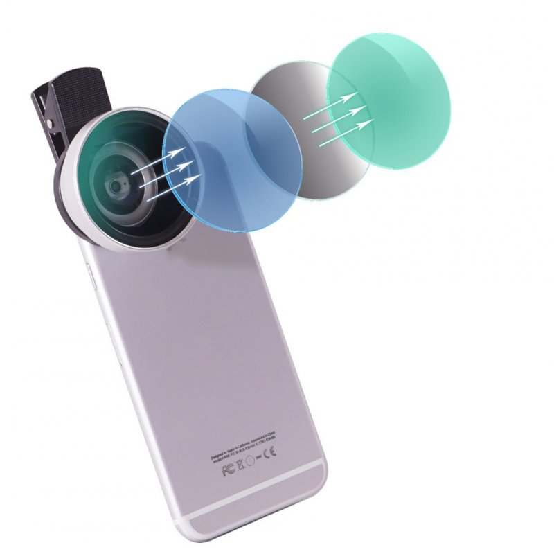 LQ-027 0.45xWide-angle Macro Large Lens Two-in-One Phone Lens Silver