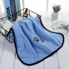 Dog Cat Bath Towel Microfiber Absorbent Towel Soft Comfortable Pet Supplies 50*90cm Light blue