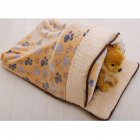 Dog Cat Mat Washable Nest Teddy Autumn Winter Warm Cartoon Pet House Bed brown_Medium