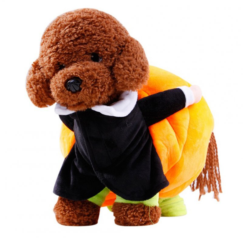 Dog Puppy Moving Pumpkin Funny Pet Dresses Costume for Halloween  S