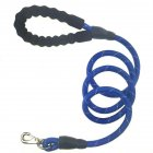 Dog Rope Lead Leash Training Padded Handle Reflective Nylon Traction Rope blue
