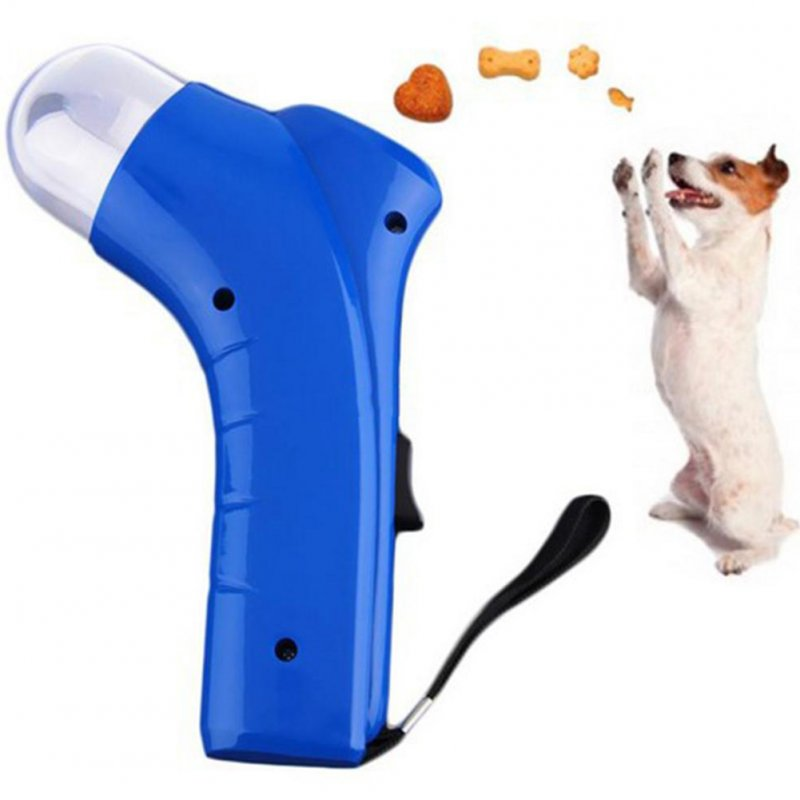 Dog Snack Catapult Launcher Dog Cat Treat Launcher Snack Food Feeder Catapult Pet Interactive Training Toys Random color