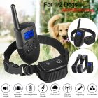 Dog Training Collar Rechargeable Waterproof Remote Dog Shock Collar with Beep 1 in 2 EU plug