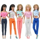 Doll Clothes 5 Sets of T shirt and Pants Fashion Daily Wear dolls