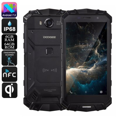 Doogee S60 Rugged Android Phone (Black)