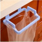 Door Hanging Garbage Bag Holder Rag Rack for Home Kitchen Cabinet Storage blue