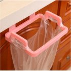 Door Hanging Garbage Bag Holder Rag Rack for Home Kitchen Cabinet Storage Pink