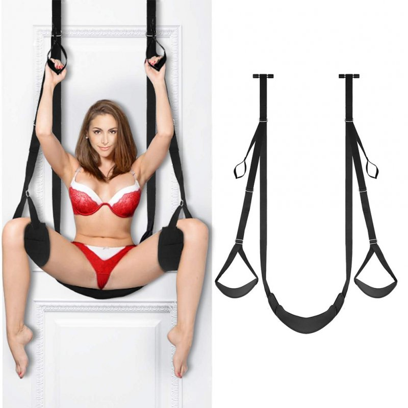 Door Sex Swing with Seat Sexy Slave Bondage Love Slings for Adult Couples with Adjustable Straps 300lbs  black